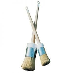 Allback Pig Bristle Round Paint Brushes